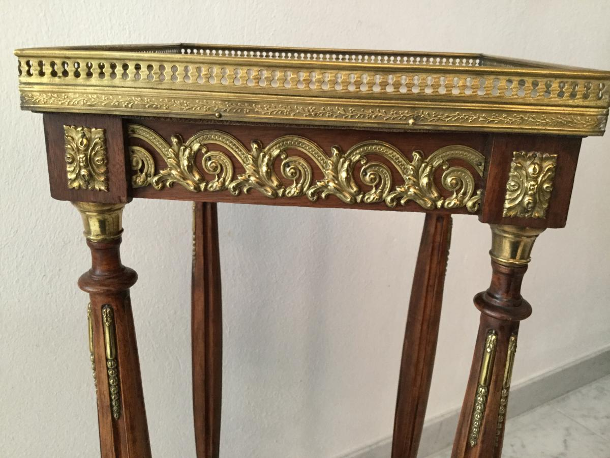 Guéridon Table d'Appoint Selette Table De Salon Napoleon III -photo-8