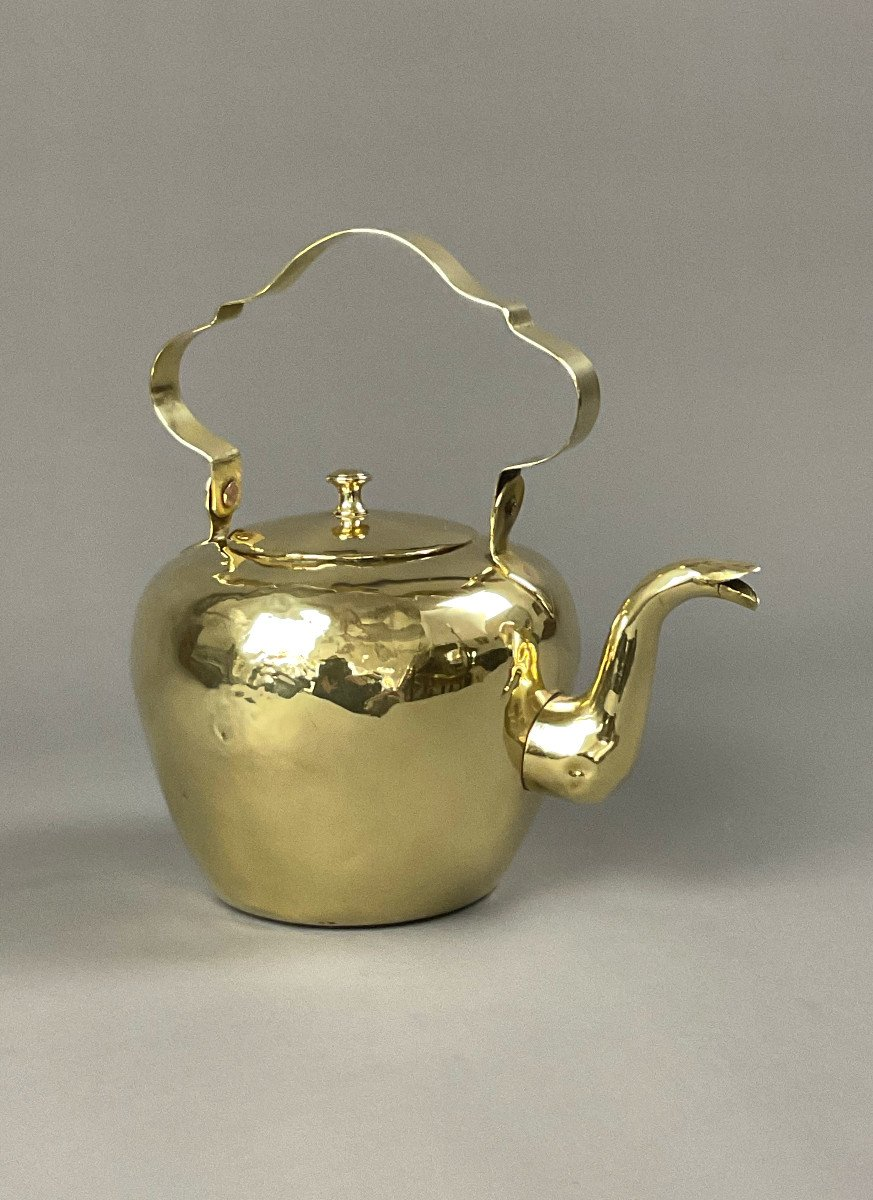 18th Wrought Brass Kettle