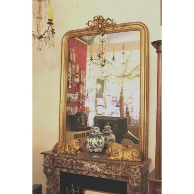 Grand Miroir De Cheminée Louis Philippe Ch. Buquet, Paris