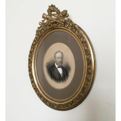 Portrait Homme Dans Cadre Doré Photographie Armand Dandoy