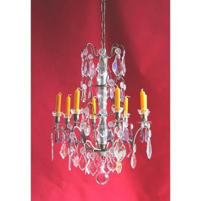 Lustre Cage 8 Feux Et Avec Cristal Style Louis XV