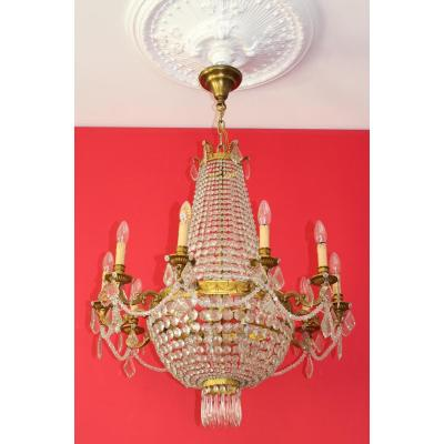 Grand Chandelier Trash Balloon With Tassels Louis XVI Style