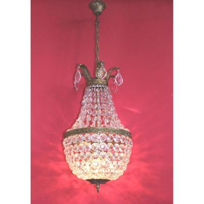 Large Chandelier Hot Air Balloon Trash Bronze Antique