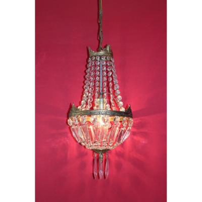 Balloon Chandelier With Tassels Style Napoleon III