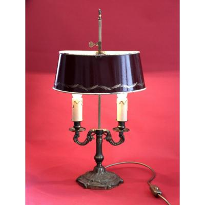 Patinated Bronze Hot Water Bottle Lamp 2 Arms Of Light