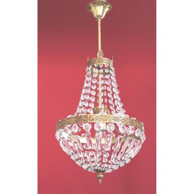 Basket Chandelier Montgolfiere Bronze And Tassels