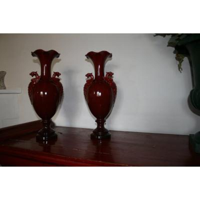 Winged Griffon Vase (pair)