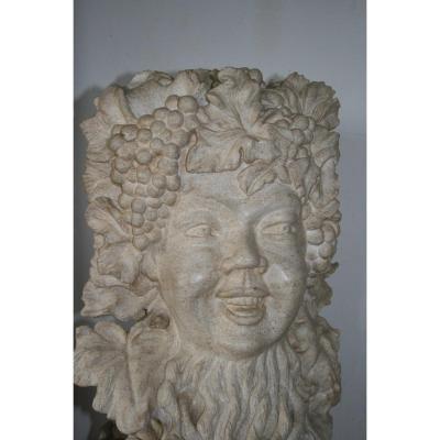 Bacchus Sculpture En Pierre