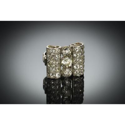 French Art Deco Diamond Ring (4.50 Carats)
