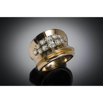 French Diamond Ring Circa 1940 - 1950