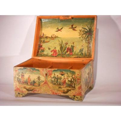 Venetian Painted Wooden Box