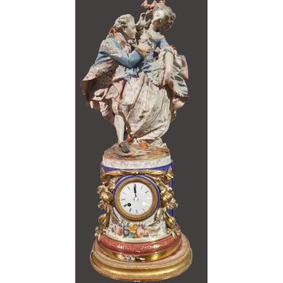 Horloge En Porcelaine Française Paris