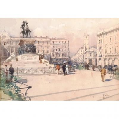 Paolo Sala Milan Painted Watercolor