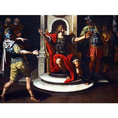 """Tableau Italien   """"roi Saul et David"""""""