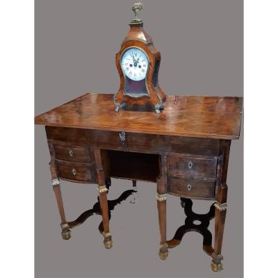 Mazarin Desk In Ebony, Violet Wood And Rosewood France Louis XIV