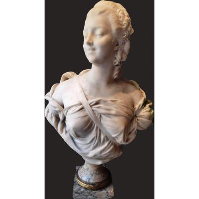 French Neoclassical Sculpture In Marble And Gilt Bronze