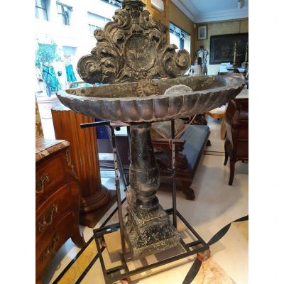 Ancienne Fontaine En Marbre Baroque Italienne