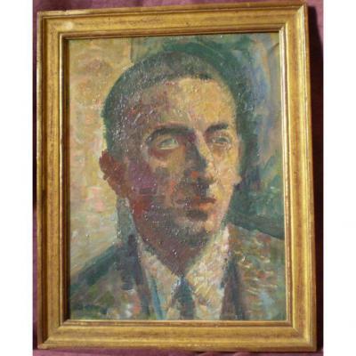 Portrait Dans Le Gout De l'école De Paris