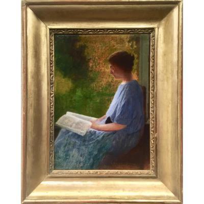 James Camille LIGNIER (1880-1914) - LA LECTURE