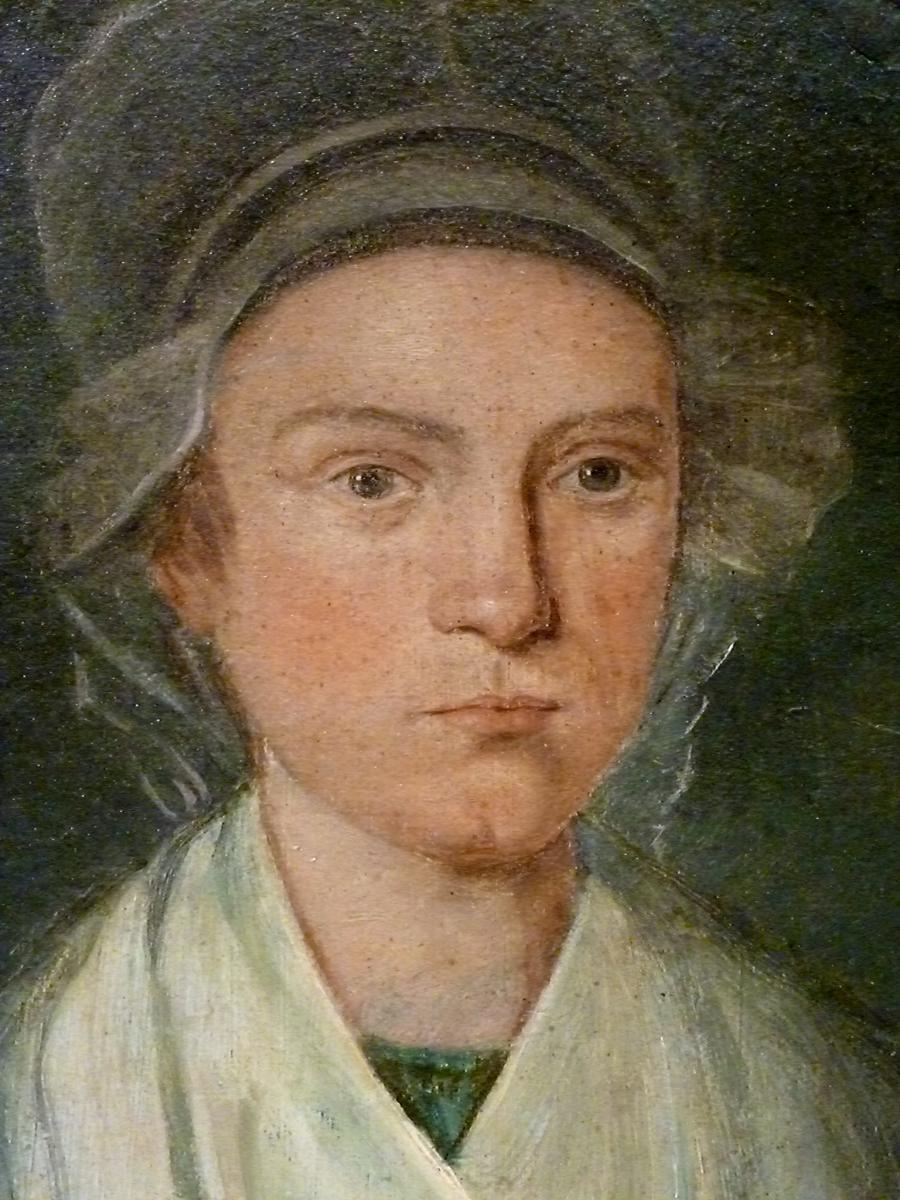 Jeune femme portrait XVIIIème REVOLUTION  -photo-2