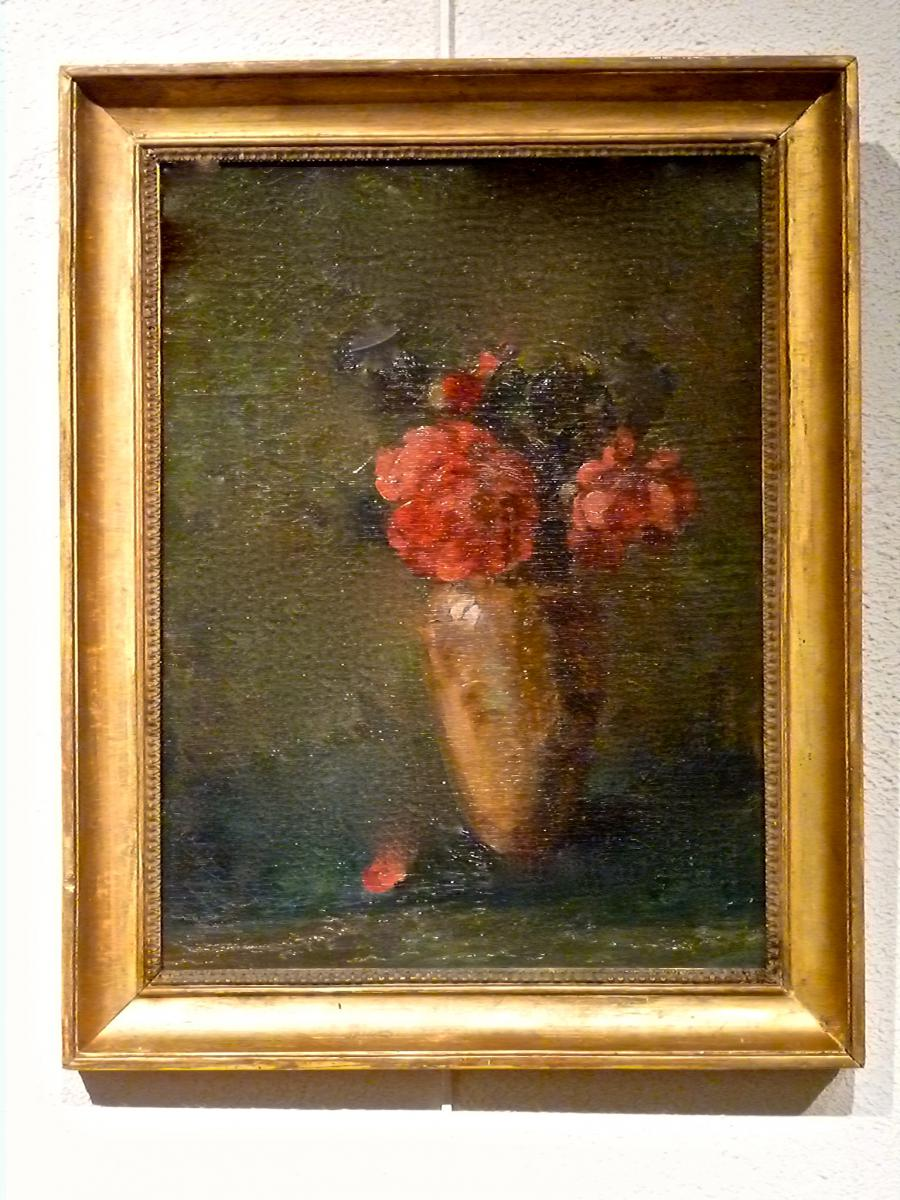 Flowers In A Vase Nineteenth Lyonnaise School - Unsigned