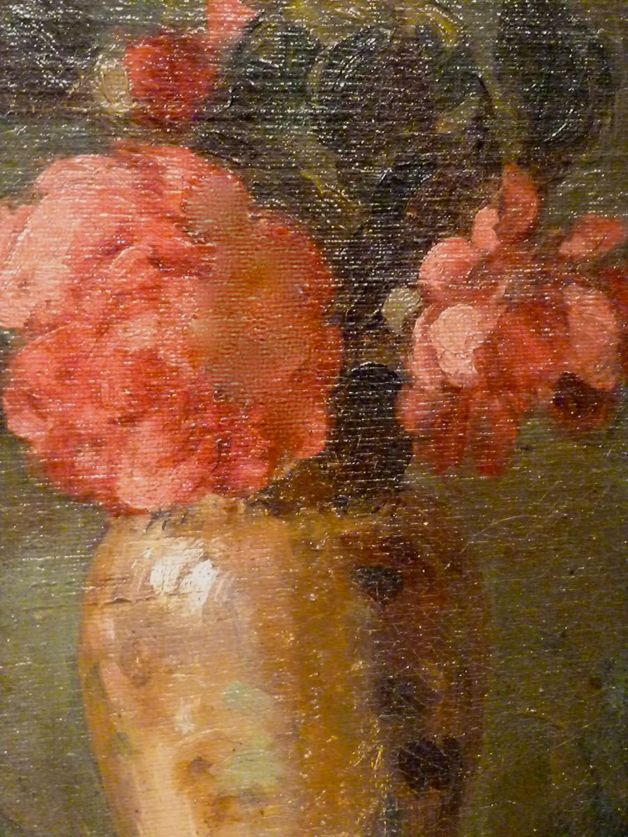 Flowers In A Vase Nineteenth Lyonnaise School - Unsigned-photo-3
