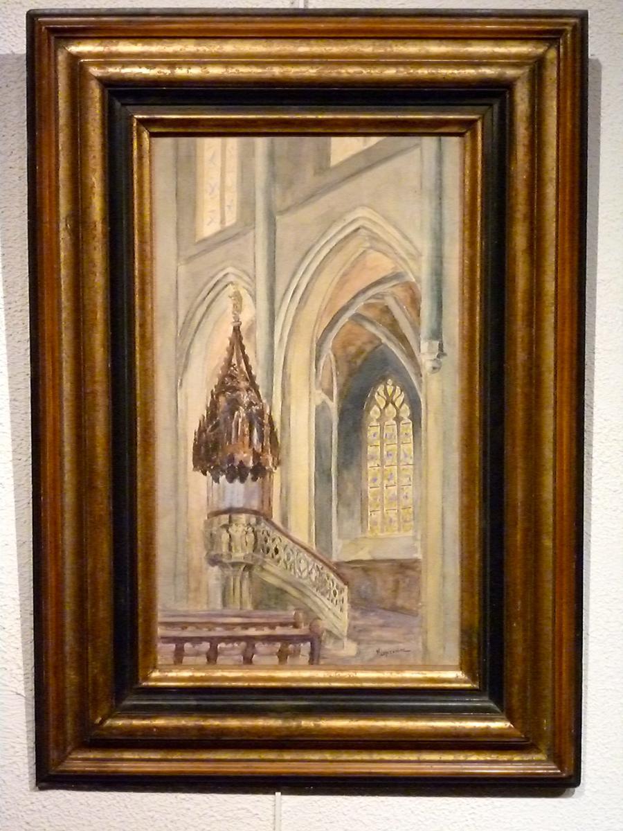 Intérieur d'église, le prêchoir par MICHEL LAPREVOTTE