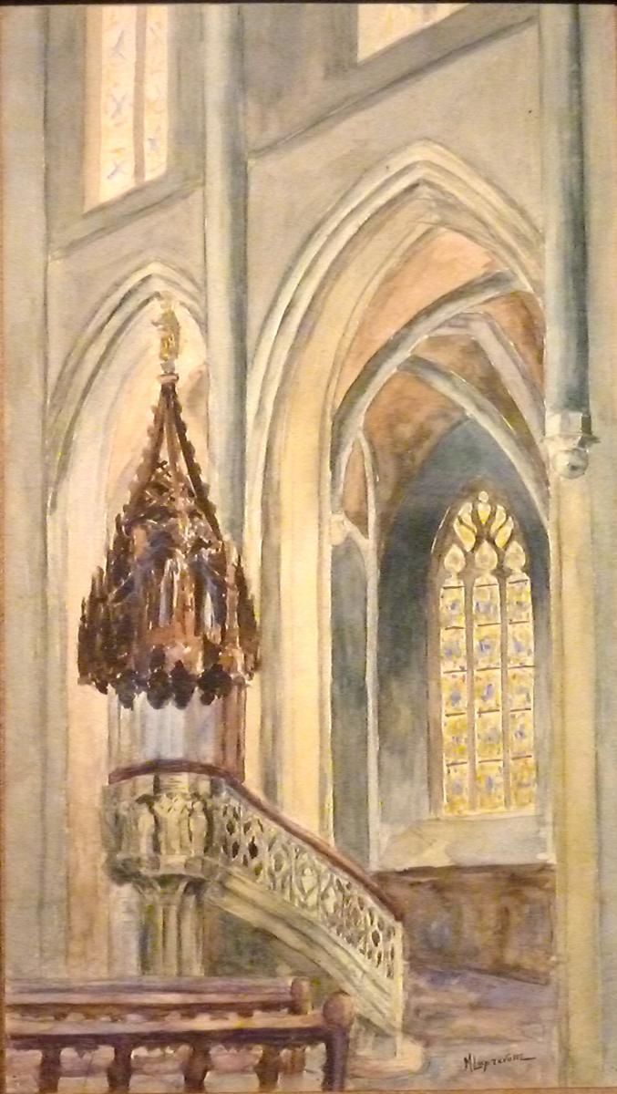 Int rieur d 39 glise le pr choir par michel laprevotte for Bergers interieur