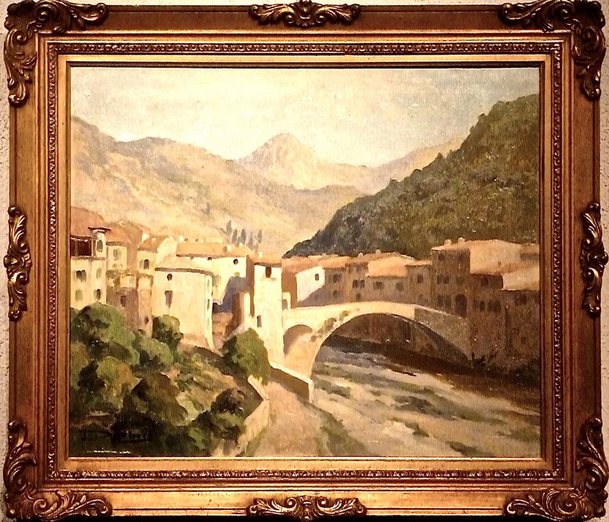 L'ESCARENE -  Pont Vieux par J DESBOIS