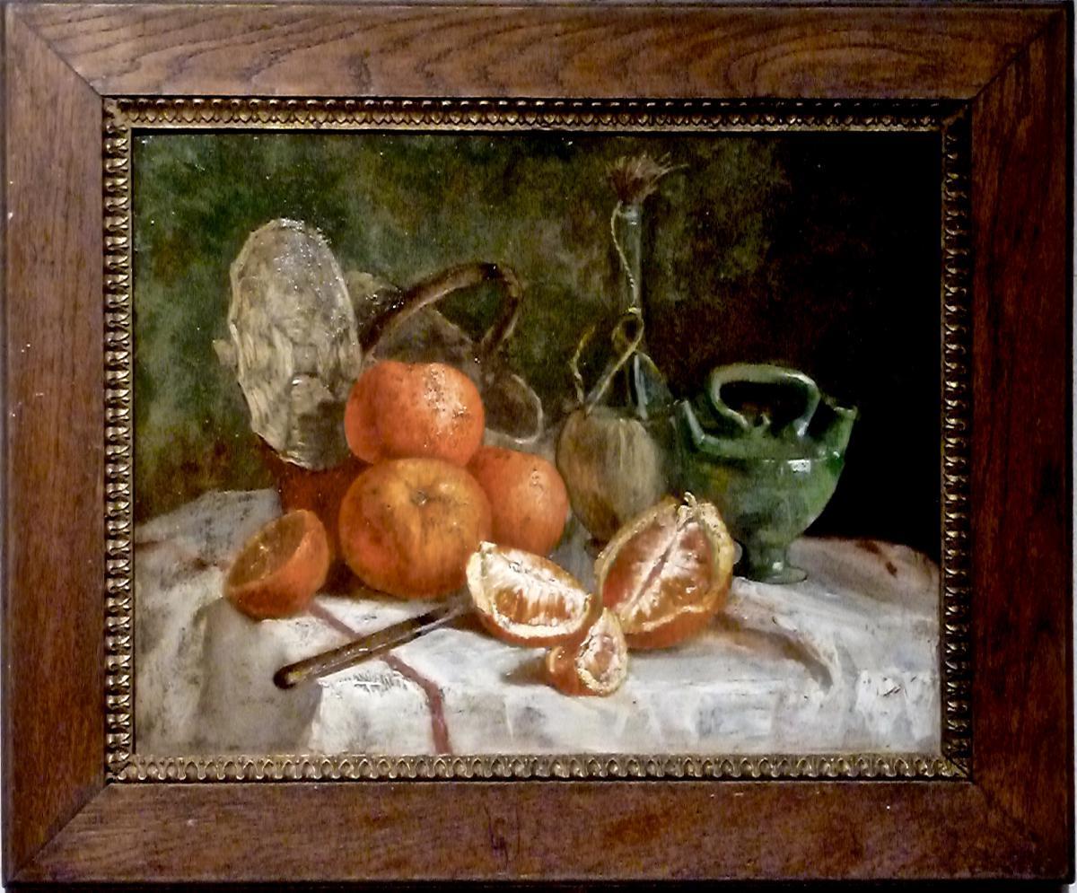 Orange Tablecloth - XIX - Unsigned