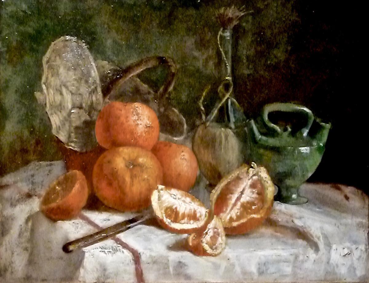 Orange Tablecloth - XIX - Unsigned-photo-2