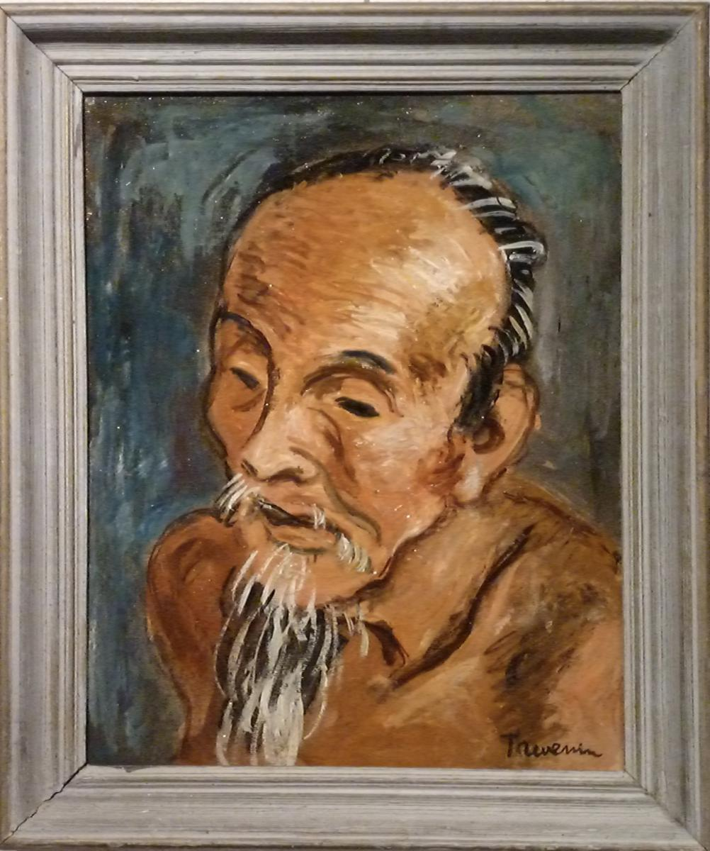 Chinese Farmer Fauve By Pierre Thevenin (1905- 1950)