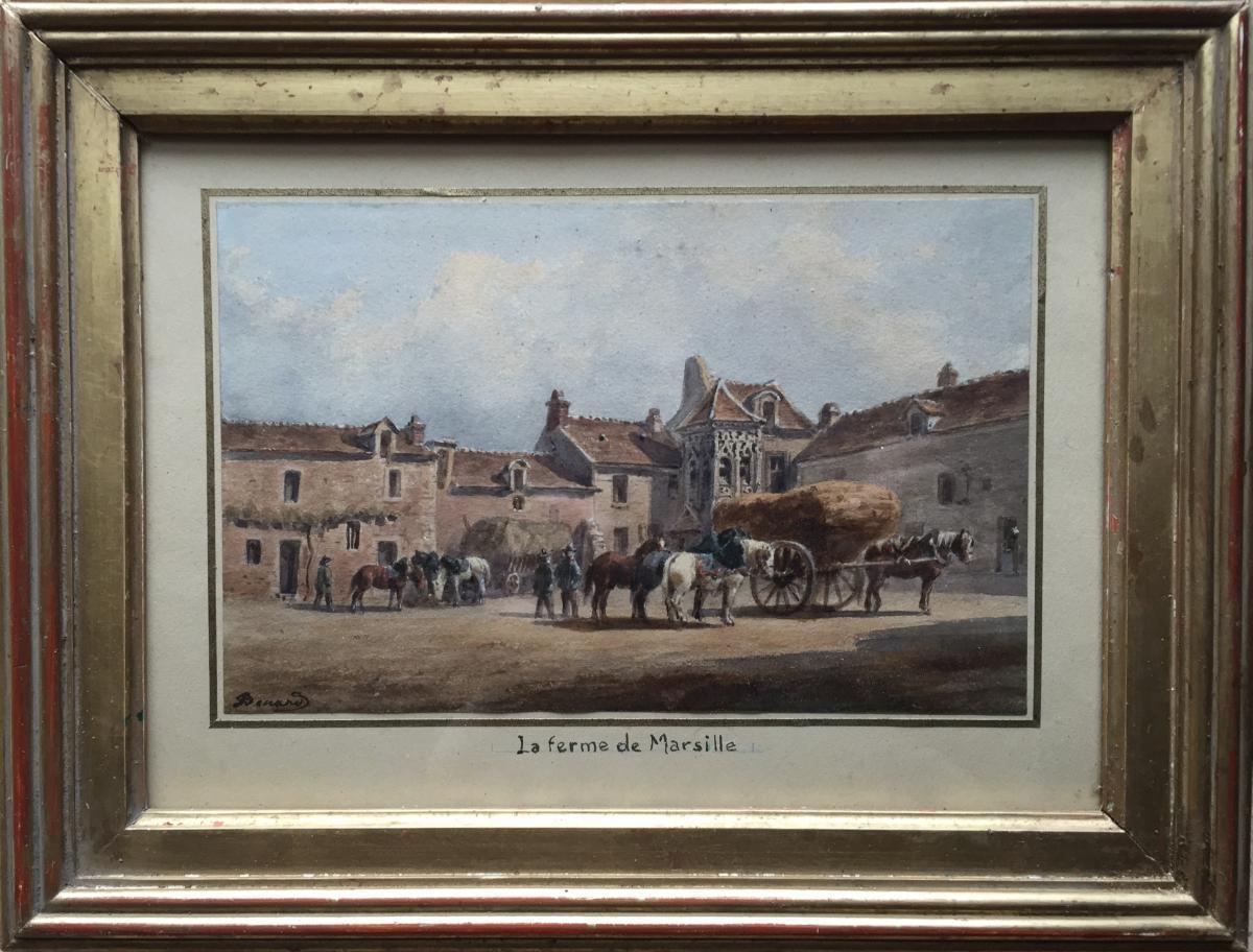 SAINT DENIS D'ANJOU par Auguste Sébastien BENARD (1810-1873)