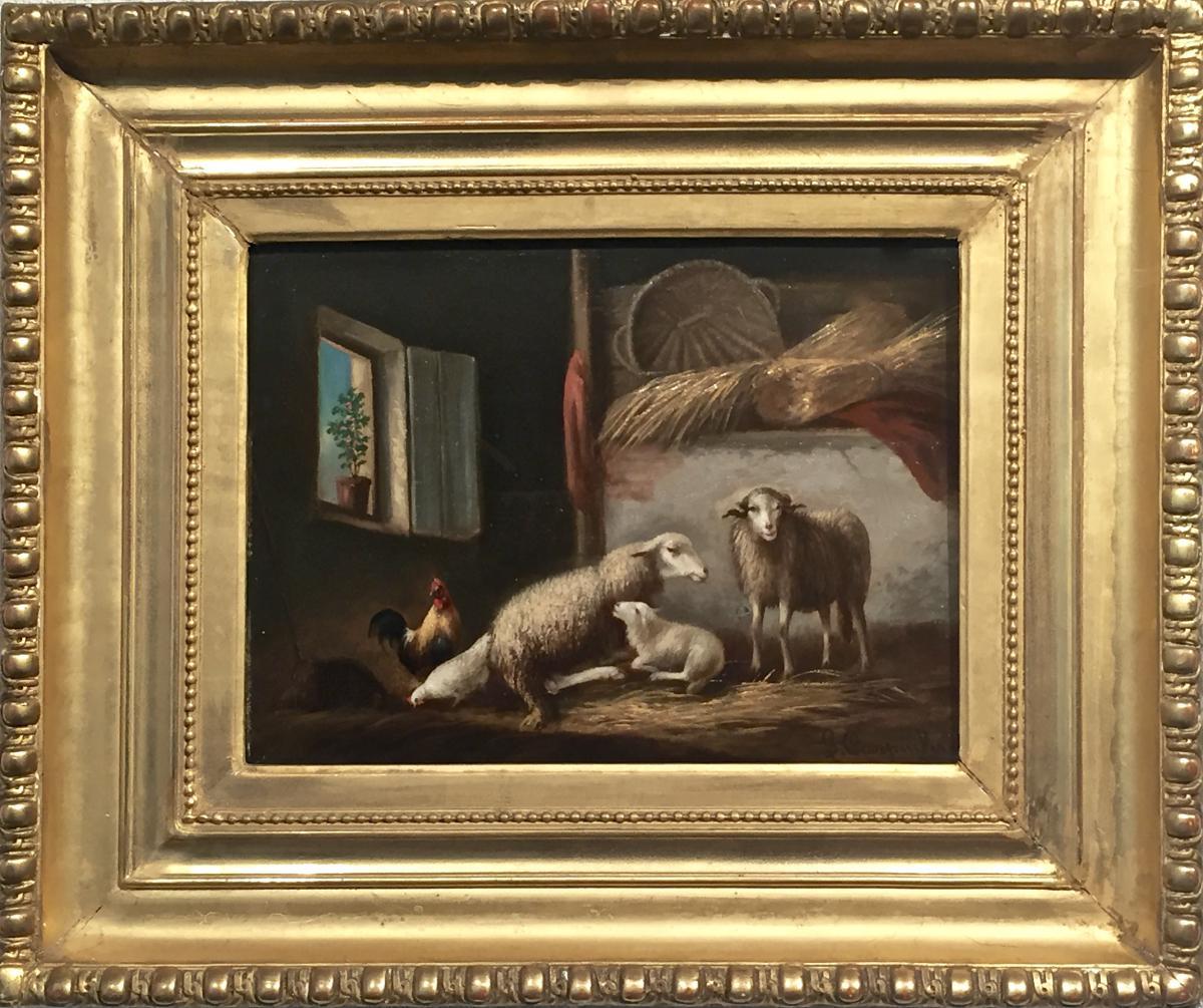 BERGERIE par Henri Joseph Grommanus CARPENTERO (1820-1874)