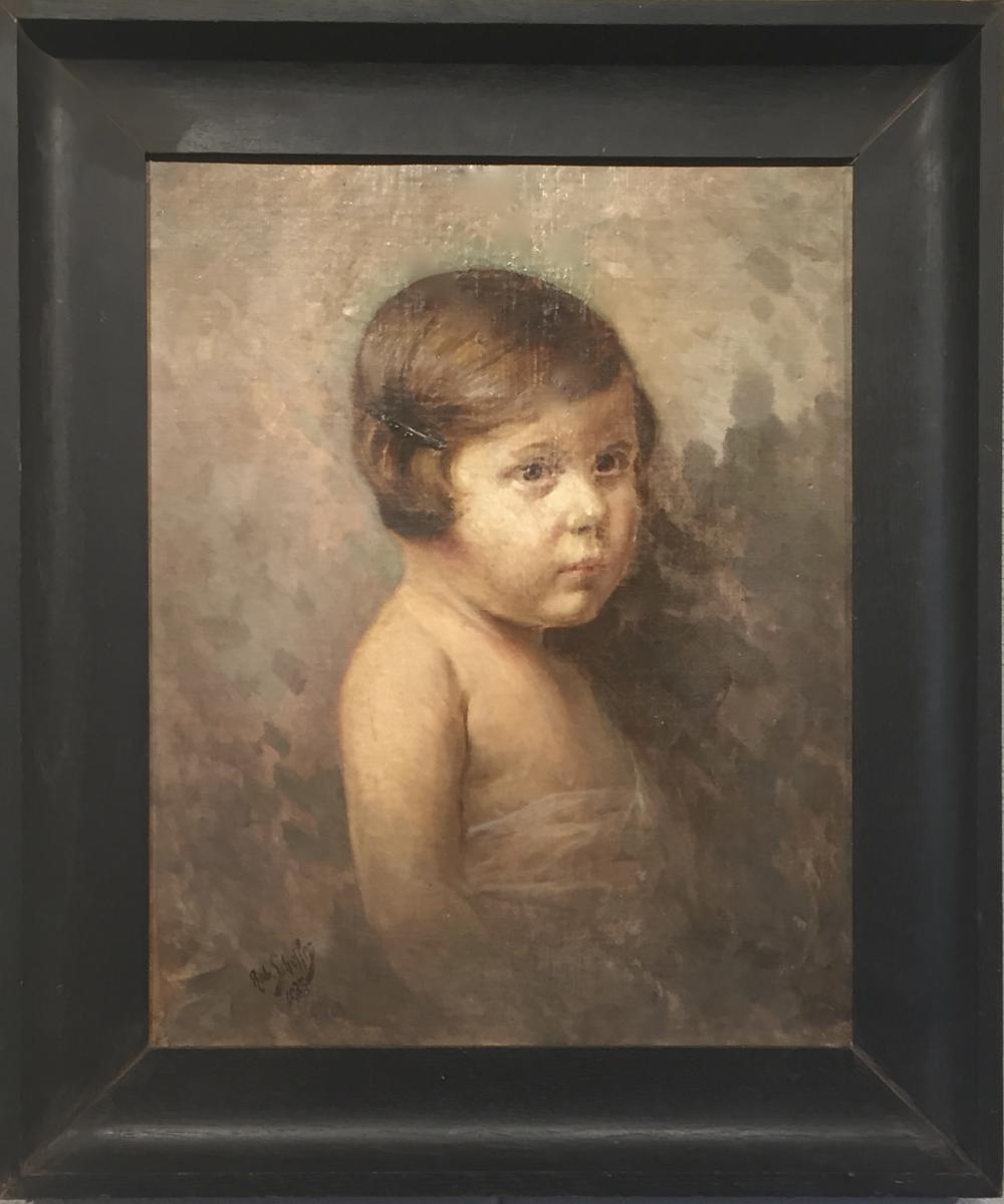 Girl The Barrette Robert Scheffer (1859-1934)