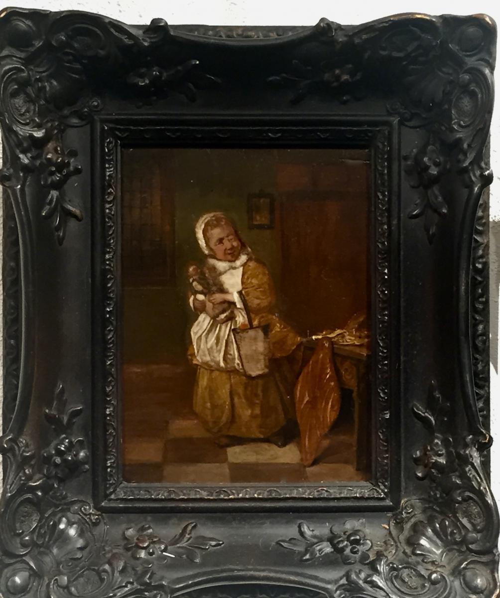 LA FETE de SAINT NICOLAS 1660 - Jan STEEN - Copie XIXème partielle