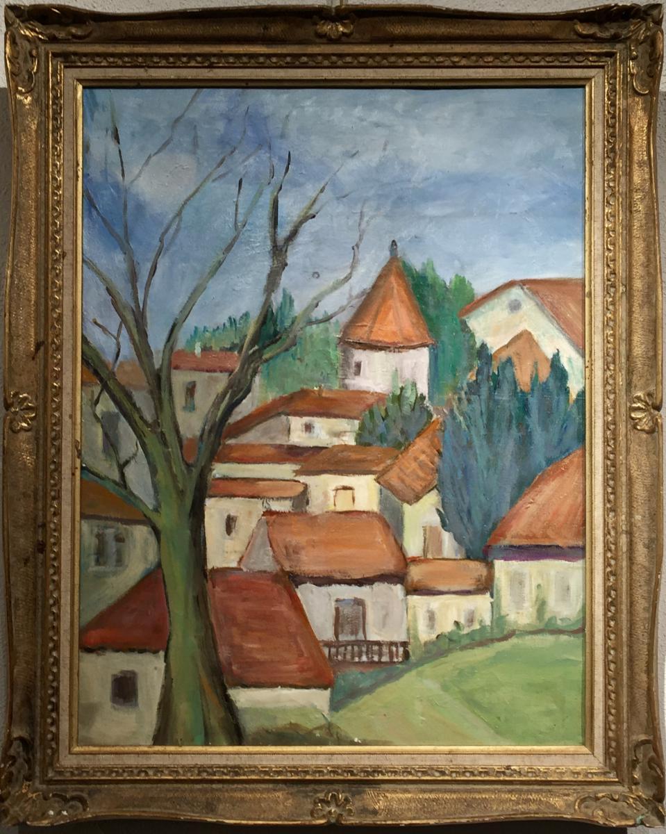 Antonin PONCHON (1891-1965) Les TOITS ROUGES