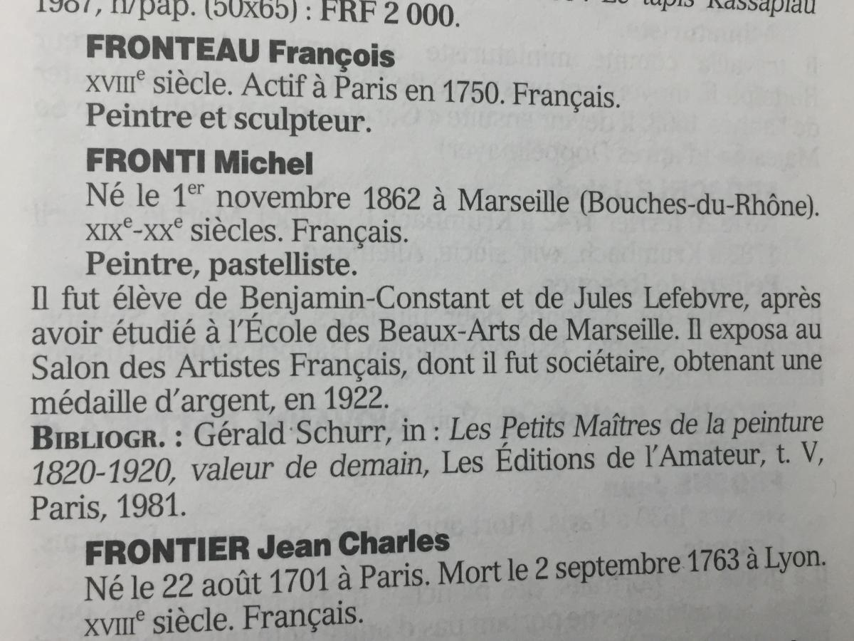 BEL HOMME en 1909 par Michel FRONTI (1862- 1935)-photo-2
