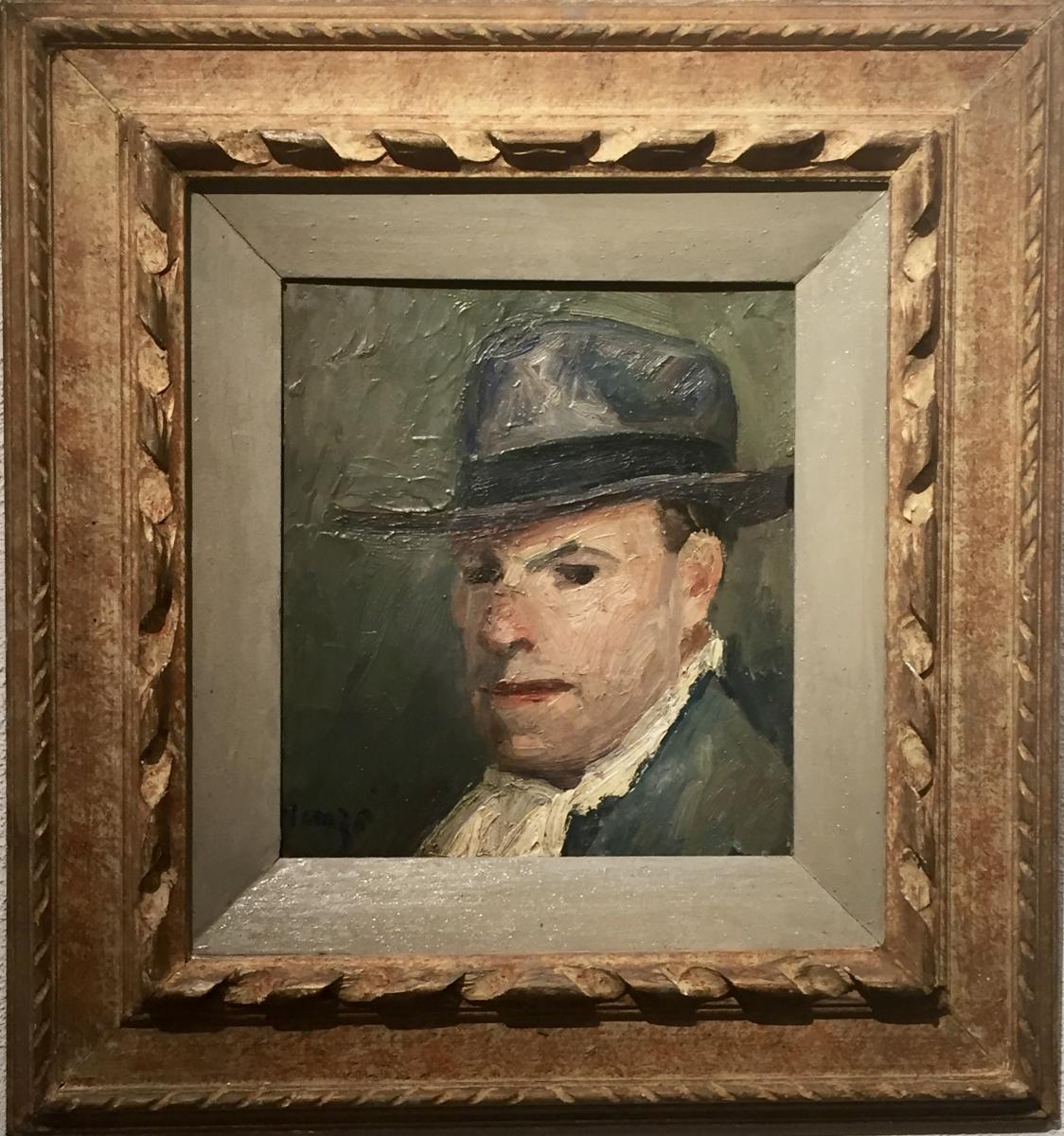Edmond Heuze (1884-1967) - Self-portrait 20 Years