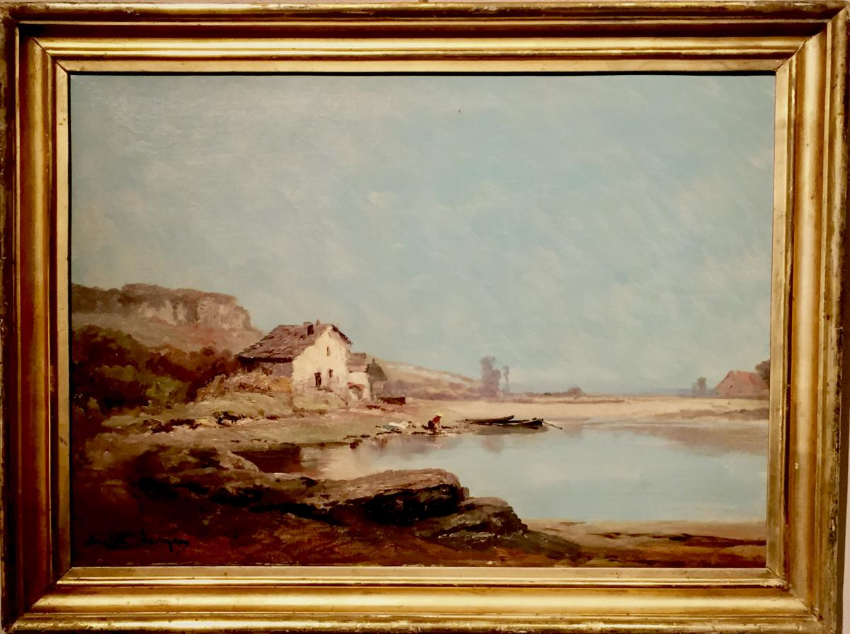 th odore levigne 1848 1912 tableaux paysages. Black Bedroom Furniture Sets. Home Design Ideas