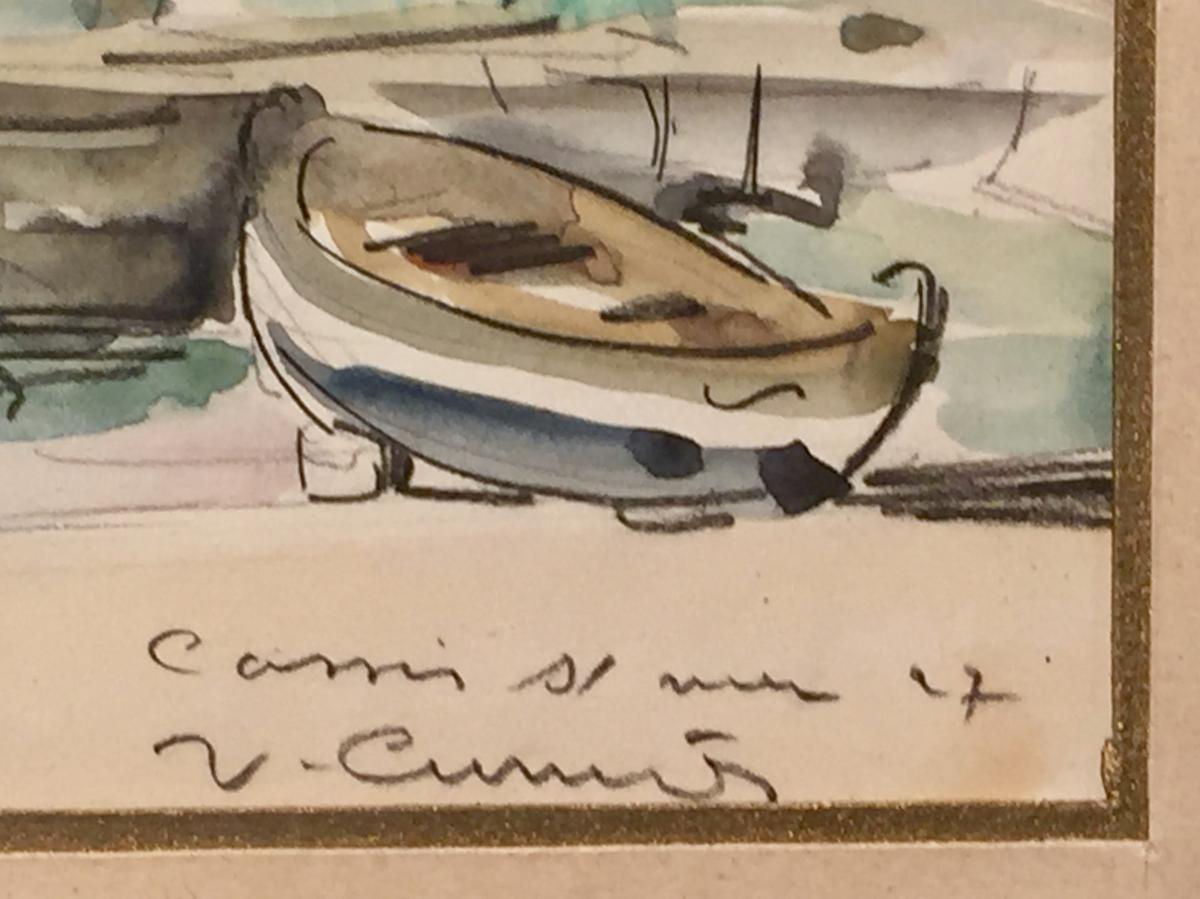 CASSIS sur Mer 1927 par Venance CURNIER (1895-1971)