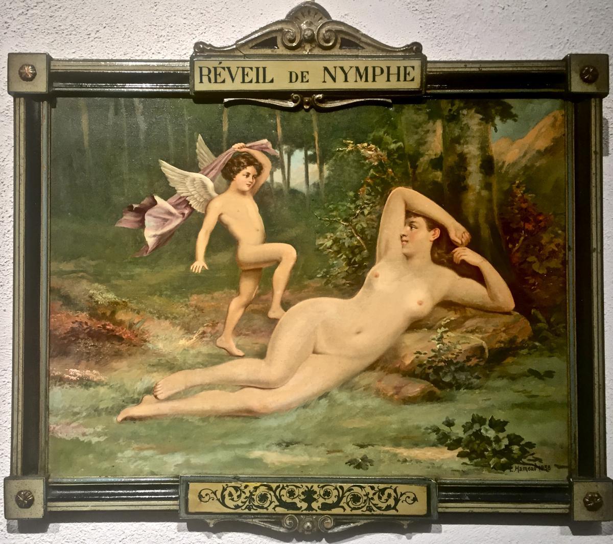 REVEIL de la PARESSE  - Julien Léon HAMEAU (XIX/XXème)