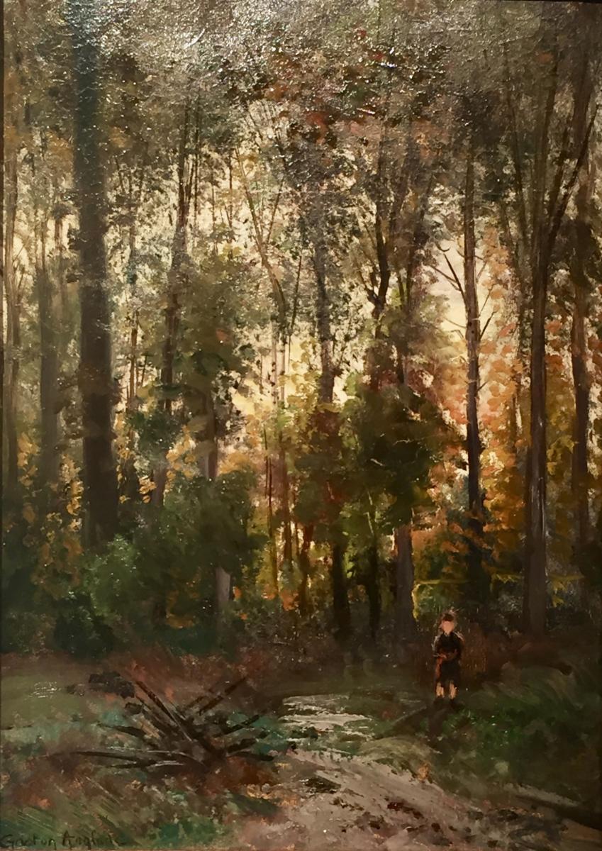 Gaston ANGLADE (1854-1919) - DANS LES BOIS