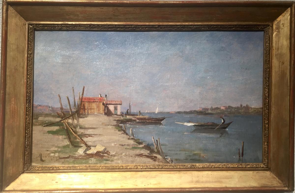 Marius MANIQUET (1822-1896) - La maison du pêcheur