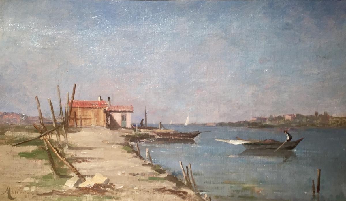 Marius MANIQUET (1822-1896) - La maison du pêcheur-photo-2