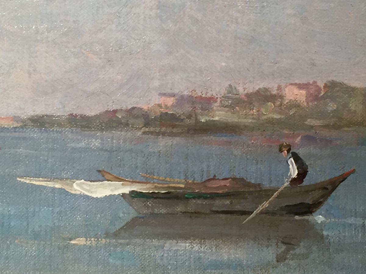 Marius MANIQUET (1822-1896) - La maison du pêcheur-photo-3