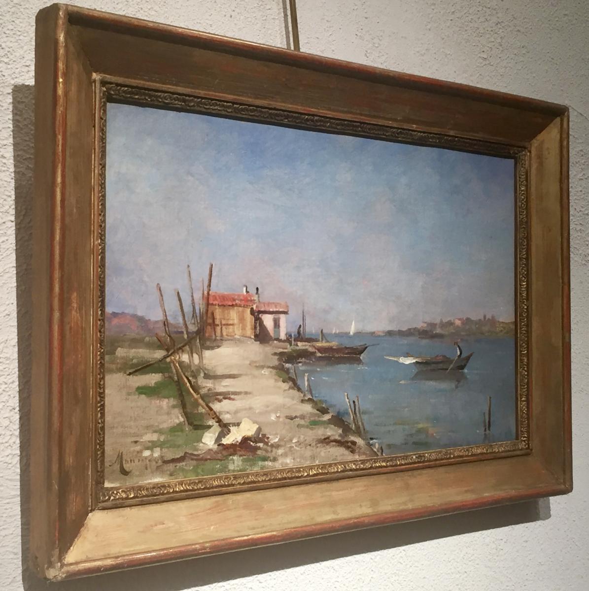 Marius MANIQUET (1822-1896) - La maison du pêcheur-photo-4