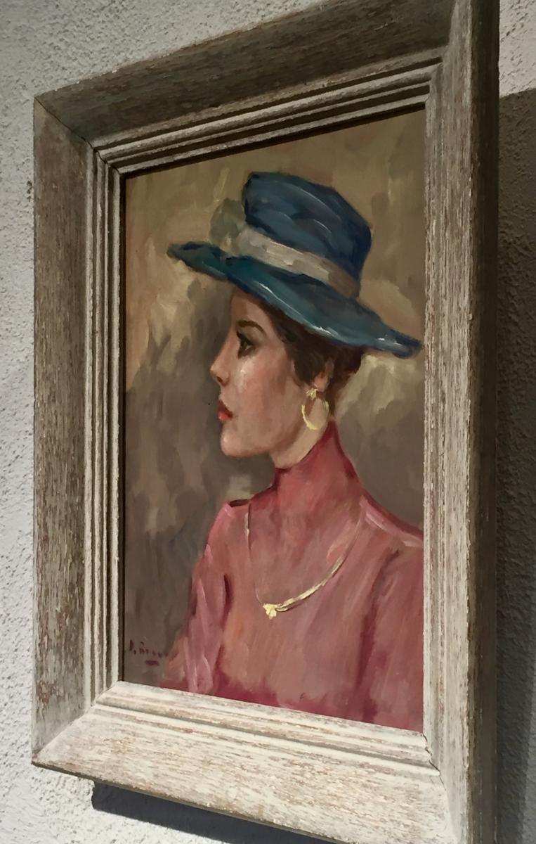 Woman In Blue Hat - Luigi Di Rocca-photo-1