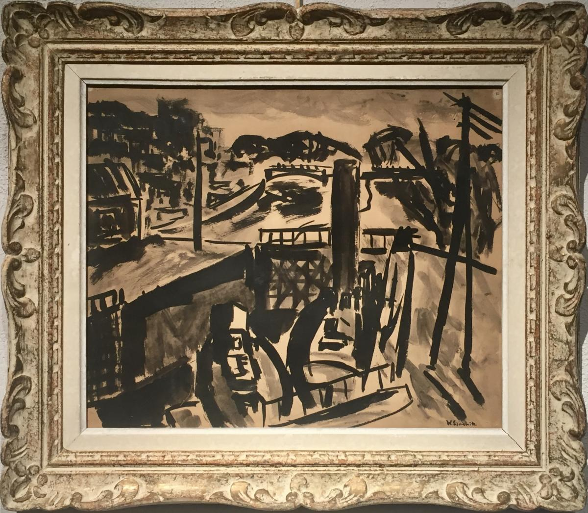 Willy EISENSCHITZ (1889-1974) - LE CANAL