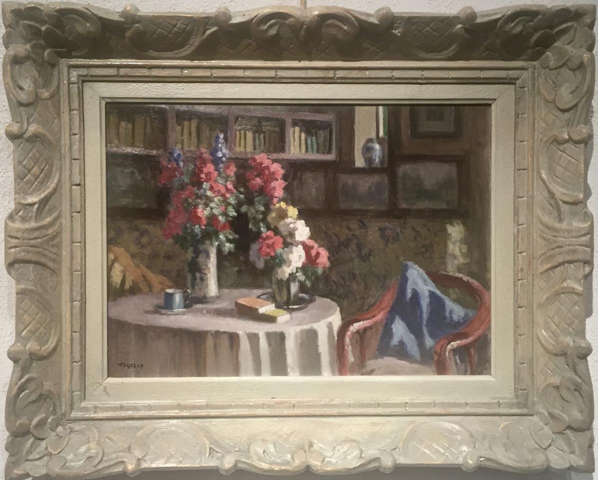 INTERIEUR FLEURI - Emile WEGELIN (1875-1962)